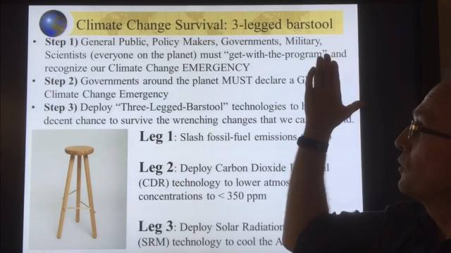 Our Climate Change Emergency & Three-Legged Bar-Stool Survival ... on
